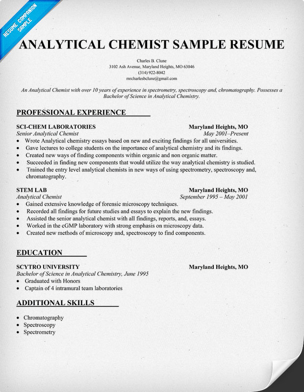 Hi, I Am Prepare For Mine CV, Too. Iu0027ve Search Somewhere For A Sample And I  Think That This One Is Reliable:  Chemist Resume